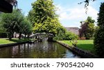 beautiful dutch canals with... | Shutterstock . vector #790542040
