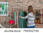 woman choosing outfit in...   Shutterstock . vector #790542730