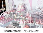 Sweet Table And Big Cake For...
