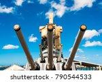 guns on the main deck of uss... | Shutterstock . vector #790544533