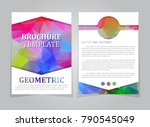 polygonal brochure template | Shutterstock .eps vector #790545049