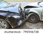car crash accident on street | Shutterstock . vector #790546738