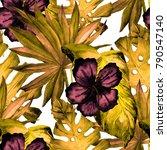 watercolor seamless pattern...   Shutterstock . vector #790547140