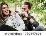 happy  couple having fun...   Shutterstock . vector #790547806