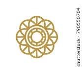 circle letter o logo design.... | Shutterstock .eps vector #790550704
