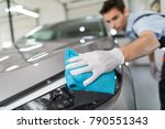 car detailing   the man holds...   Shutterstock . vector #790551343