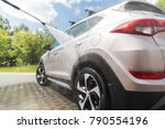 manual car wash with... | Shutterstock . vector #790554196