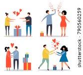 vector set of flat images of... | Shutterstock .eps vector #790560259