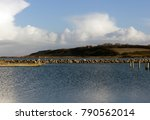 rock and stone wall  protection ... | Shutterstock . vector #790562014