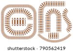 set of railroad tracks with... | Shutterstock .eps vector #790562419