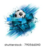 design sports football banner... | Shutterstock .eps vector #790566040