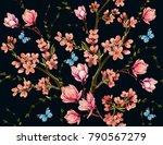 beautiful vector seamless... | Shutterstock .eps vector #790567279