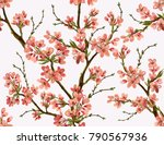 seamless vector floral pattern... | Shutterstock .eps vector #790567936