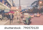 image of abstract blur street... | Shutterstock . vector #790570120