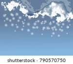 dramatic white clouds and the... | Shutterstock .eps vector #790570750