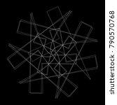 festive geometric set stars and ... | Shutterstock .eps vector #790570768