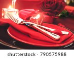 st. vsalentines day dinner.... | Shutterstock . vector #790575988
