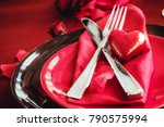 st. vsalentines day dinner.... | Shutterstock . vector #790575994