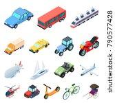 different types of transport... | Shutterstock .eps vector #790577428