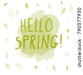 vector illustration of hello... | Shutterstock .eps vector #790577950