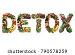 detox spelt using large letters ... | Shutterstock . vector #790578259