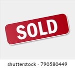 vector icon sold red stamp....   Shutterstock .eps vector #790580449