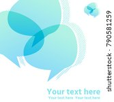 overlapping  intersecting text...   Shutterstock .eps vector #790581259