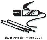 welding clamp and weld... | Shutterstock .eps vector #790582384