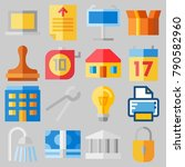 icon set about real assets with ...   Shutterstock .eps vector #790582960