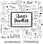 love clipart doodles  san... | Shutterstock .eps vector #790583926