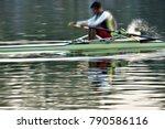 close up of man's rowing kayak   Shutterstock . vector #790586116