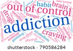 addiction word cloud on a white ... | Shutterstock .eps vector #790586284