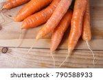 carrots on table | Shutterstock . vector #790588933