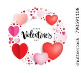 happy valentine's day... | Shutterstock .eps vector #790591108
