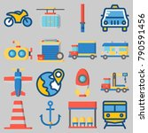 icon set about transportation... | Shutterstock .eps vector #790591456