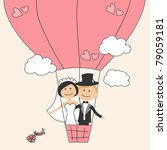 air,art,background,ball,balloon,ballooning,beautiful,beauty,bouquet,bride,card,cartoon,celebration,ceremony,cheerful
