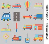 icon set about transportation... | Shutterstock .eps vector #790591888