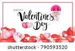 happy valentine's day...   Shutterstock .eps vector #790593520