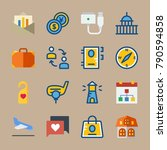 icon set about travel. with... | Shutterstock .eps vector #790594858