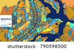 bras  lia   brazil  colorful... | Shutterstock .eps vector #790598500