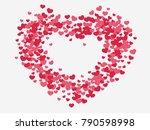 heart shape abstract... | Shutterstock .eps vector #790598998