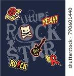 future rock star  vector print... | Shutterstock .eps vector #790601440