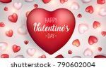 valentine's day background.... | Shutterstock .eps vector #790602004