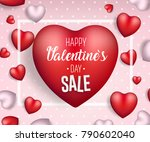 valentine's day sale background.... | Shutterstock .eps vector #790602040