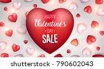 valentine's day sale background.... | Shutterstock .eps vector #790602043