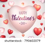 valentine's day background.... | Shutterstock .eps vector #790602079