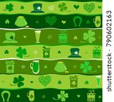 seamless st.patrick's day... | Shutterstock .eps vector #790602163