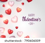valentine's day background.... | Shutterstock .eps vector #790606009