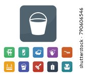 cleaning icons. vector...   Shutterstock .eps vector #790606546