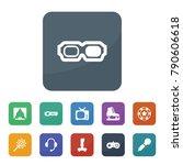 entertainment icons. vector... | Shutterstock .eps vector #790606618